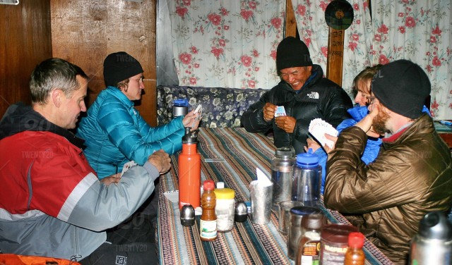 Taken in the Himalayas, during the EBC trek   Guess who has