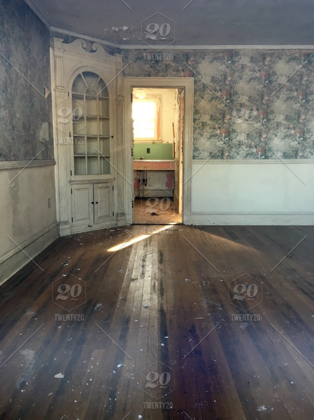 Looking Inside An Abandoned House At Fairfield Hills In