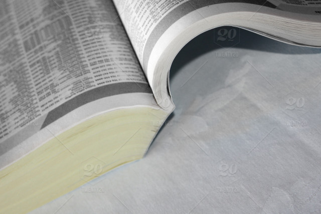Phone Book - White Pages (Phone numbers/Names altered) stock