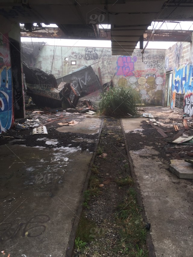 Abandoned Nike nuclear missile silo in San Francisco  stock