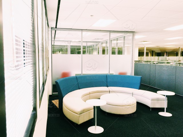 Cool Office Space. This Picture Shows The Newer Modern Sitting Relaxing  Area Build Near The Cubicles In Office Where Co Workers Can Come And Do  Informal ...
