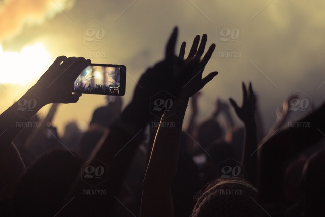stock photo, photography, people, blue, orange, summer, camera, music, fog, smoke, concert, mist, crowd, music-festival, person, soft, phone, electronic, device, festival, mobile, clarity, taking-photos, photos, depthoffield, snapping, mobile-device, using-mobile