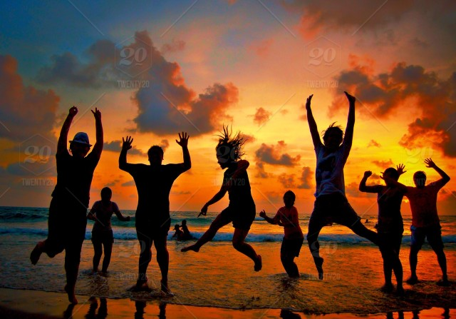 stock photo, silhouette, sunset, electricity, lighting, dance, festival, dance-floor, beachlife, sea-sand-sun
