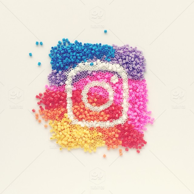 #myinstagramlogo - Instagram logo stock photo 47ab2f6b-9cd4-4054