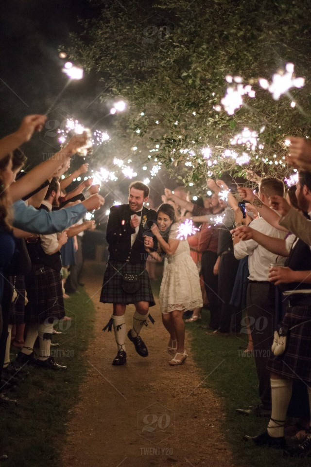 Wedding inspiration - sparkler send off for bride and groom after ...