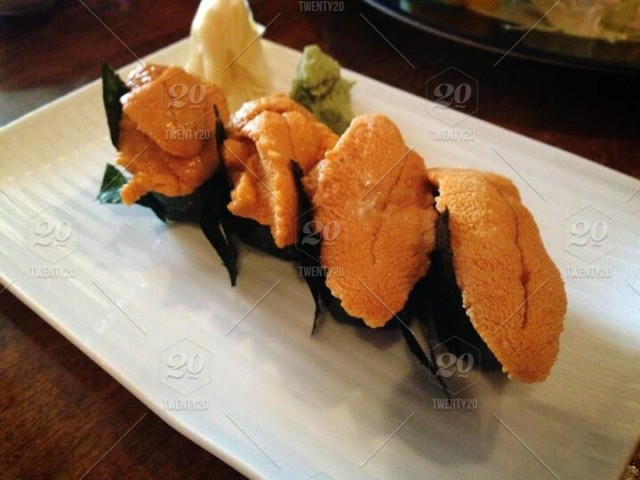Uni Sea Urchin One Of My Favorite Sushi Dishes Stock Photo