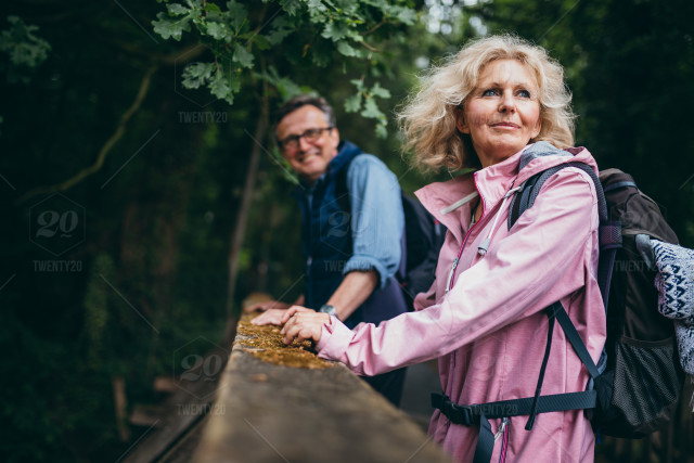 Couple Mature mature couple going for a walk in forest stock photo edc6c69f-2817