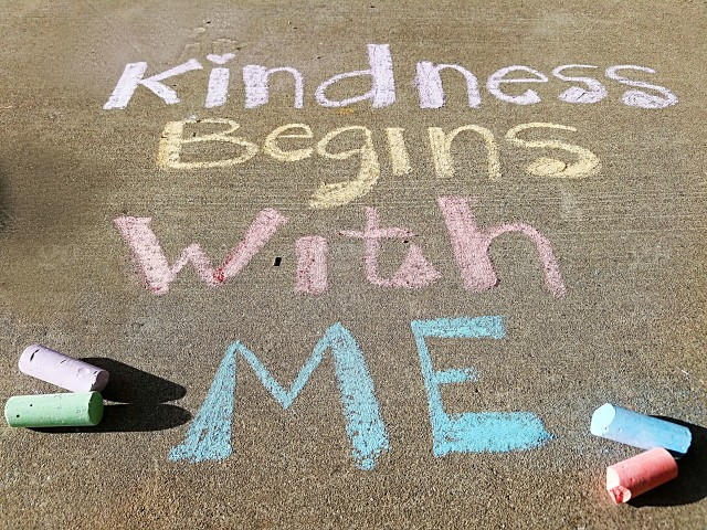 stock photo, outdoors, colorful, guidance, communication, inspiration, message, text, sidewalk, chalk, words, quote, motivation, conceptual, kindness, inspirational-quote, motivational-quote, words-in-the-wild, words-of-motivation