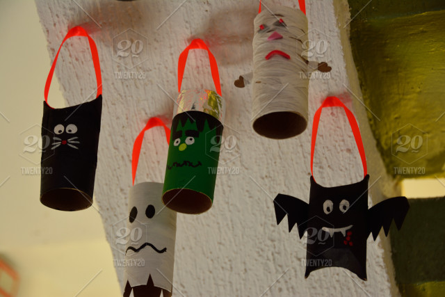 Homemade Halloween Day Of The Dead Decorations Resembling