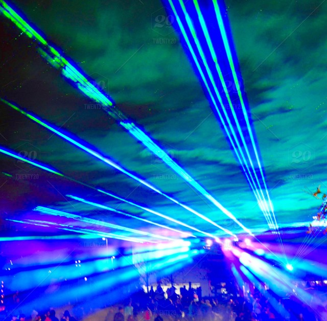 Outdoor Festival | RGB Full-Color Lasers | Aerial imagery