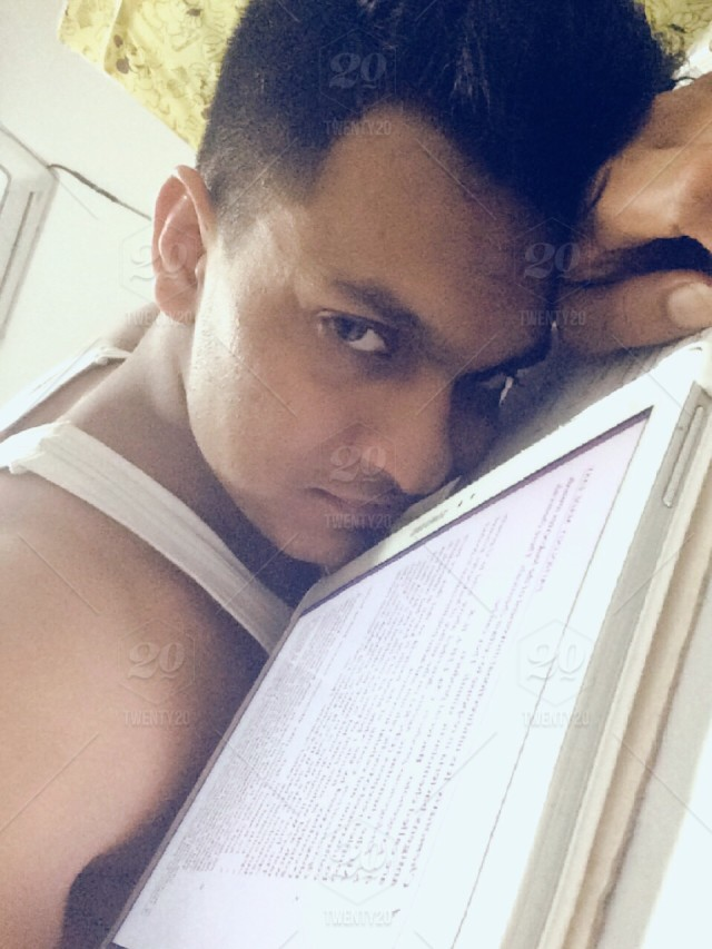 I clicked this picture after I took break studying until late night   stock
