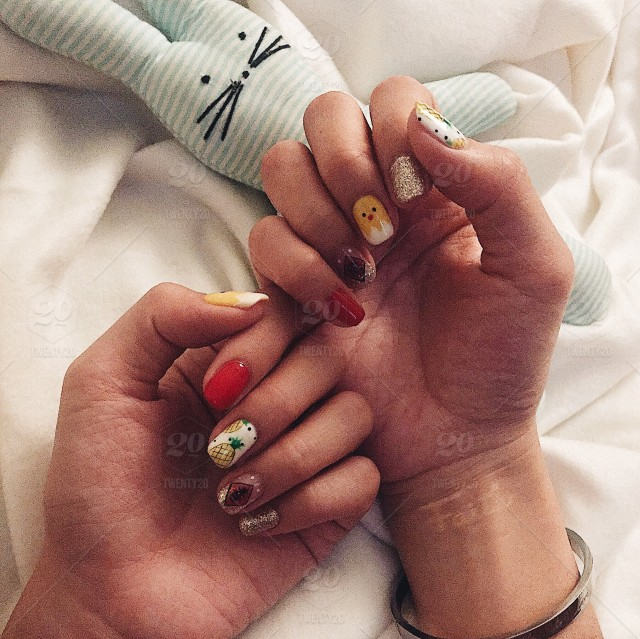 Chinese New Year nails art. stock photo 89898a39-9742-4444-99ba ...