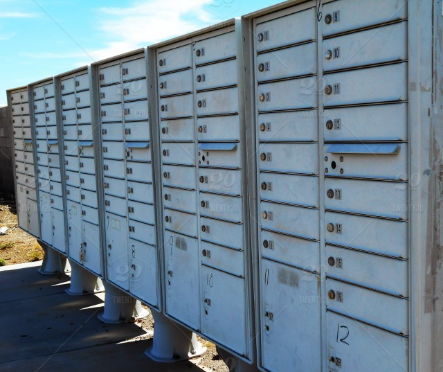 Community Mail Boxes! Community Mail Boxes Are Placed In A
