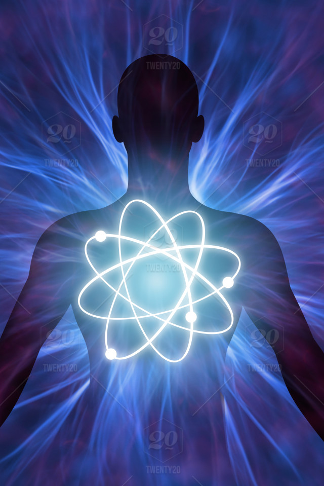 Human Body With Energy Rays Stock Photo 54d520b7 1ea8 42af