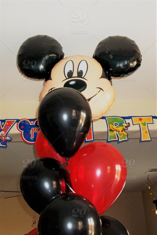 Balloons A Babys First Birthday Party Includes Red And Black Helium Very Large Mylar Character Balloon To Celebrate In Fun