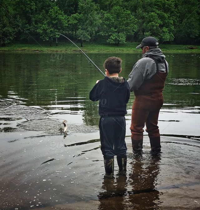 stock photo, fishing, family, father, dad, father-and-son, grandparents, grandparent, river-fishing, trout-fishing, wade-fishing