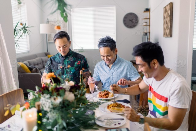 Stock Photo Dinner Ideas Party Family Home Friends Fancy