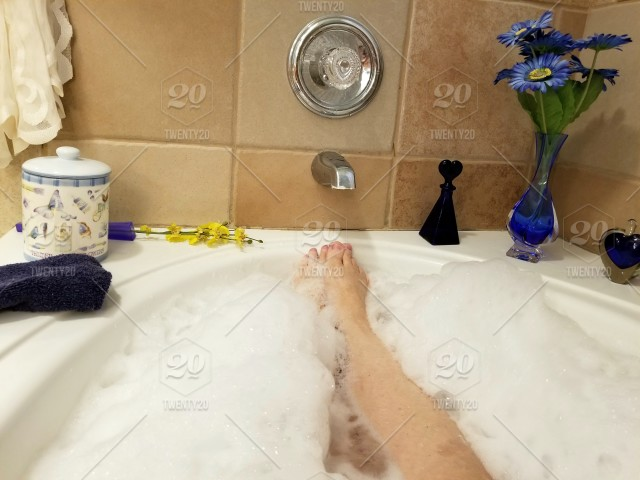 Ahhh Spa Day Taking A Relaxing Soak In A Jetted Bathtub
