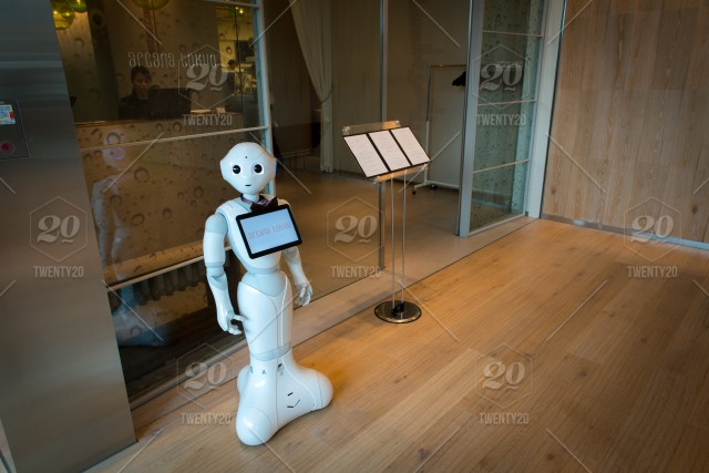 stock photo, business, store, japan, human, robot, computer, future, tokyo, artificial-intelligence, high-teck