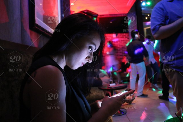 Stock Photo Party Mobile Phone Beautiful Woman Cellphone