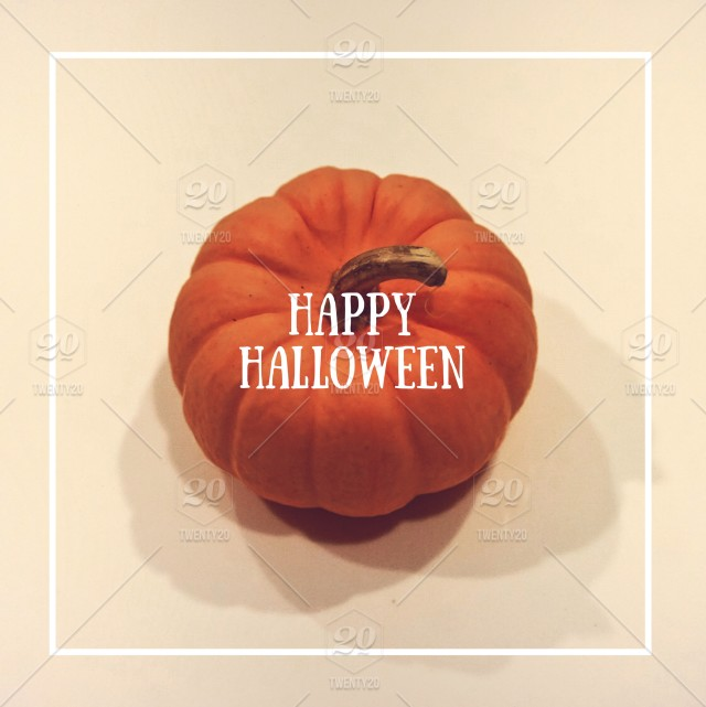 A Square Wallpaper Of A Orange Pumpkin In The Center With