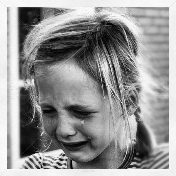 Black and White crying girl