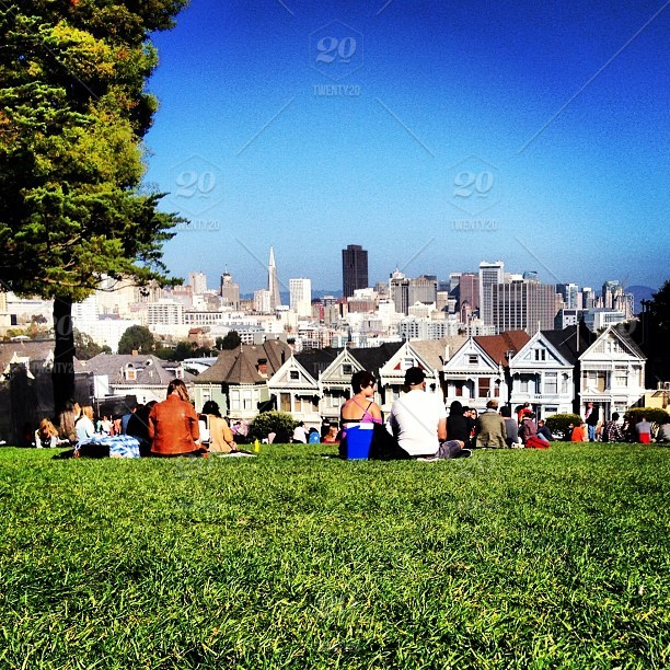 San Francisco S Famous Painted Ladies Stock Photo E62f80b4 Fd21 4164