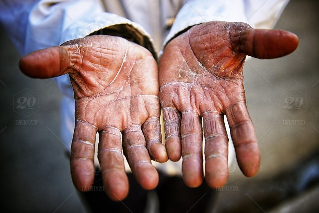 stock photo, daytime, dry, part-of, people, one-person, cropped, male, weathered, absence, cracked, problems, texture, musician, social-issues, open, hands, shirt, adversity, misfortune, poverty, skin, palm, middle-aged, lines, man, fingers, curves, urban, thumb, poor, popular, beggar, streetphotography, cuba, havana, skin-care