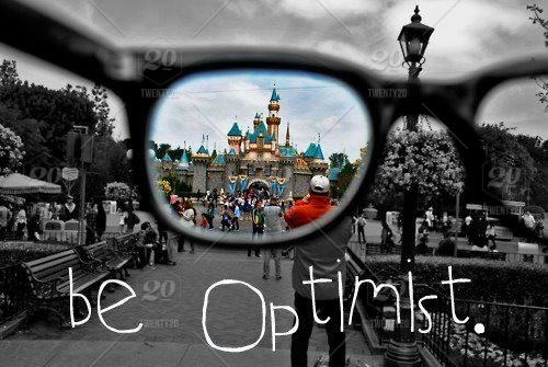 stock photo, black-and-white, disney, glasses, optimist, be