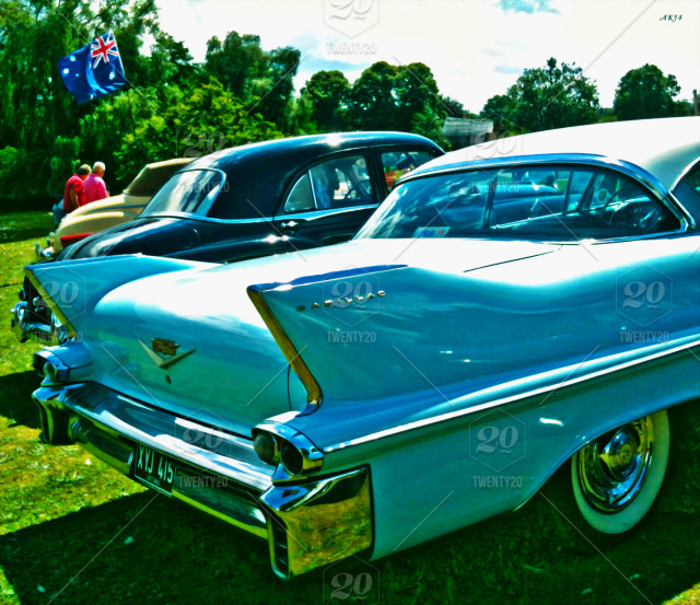 Blue Cadillac Photographed Last Summer At A Vintage Rally