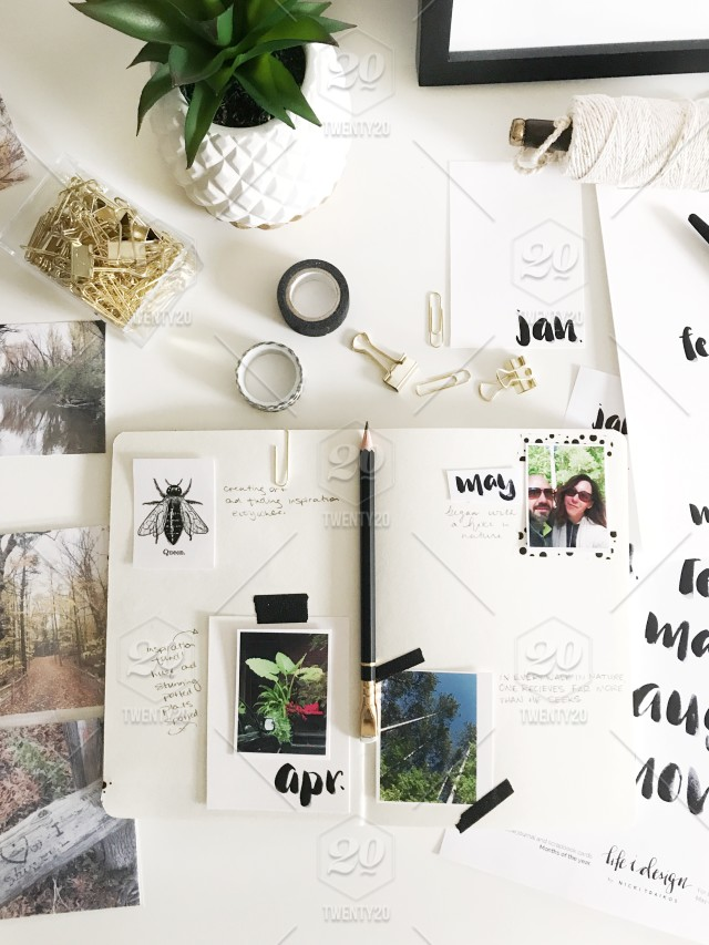 stock photo, photography, black-and-white, stationery, social, desk, journal, desktop-items, lifestyle-blogger, blogger-desk