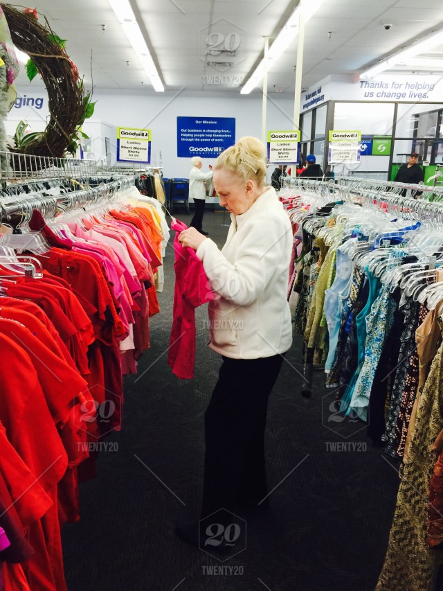 Shopping in Goodwill stock photo 63e3c3af-cf69-40f2-834c