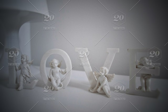 Ceramic Letters With Angels Love Great Decoration For Romantic Bedrooms Stock Photo 0e7c51c5 2995 4de4 81da 0abb27381620