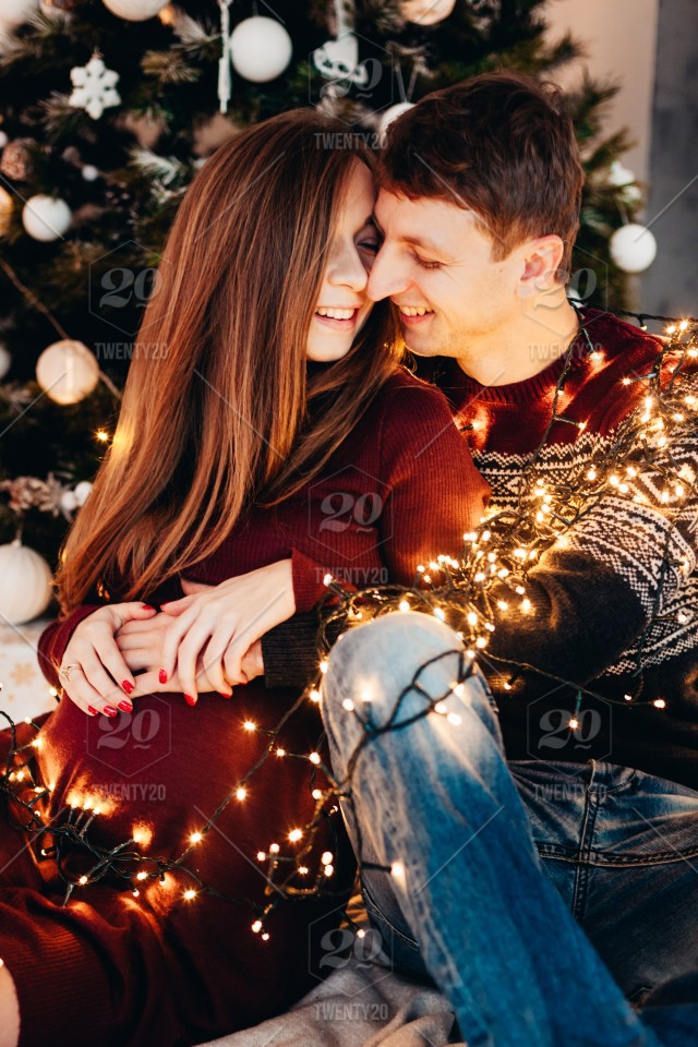 Couple Love Christmas Christmas Tree Holiday Family Couples Gifts Christmas Eve New Year Happy Couple Pregancy Stock Photo 603155f7 1c07 434d Af85 Cabe06da0094