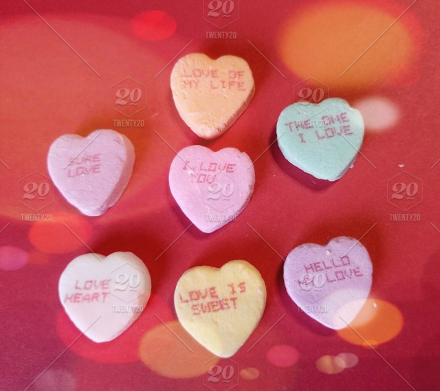 Romantic Words Of Love Valentine Candy Hearts With Sayings All