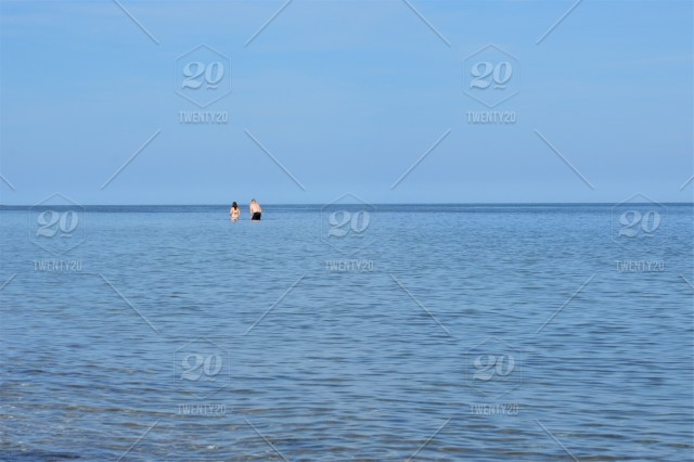 Swimming in the refreshing blue water of Cape Cod, MA