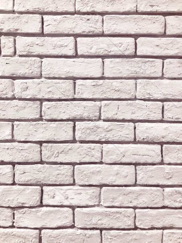 White Brick Wall All White Background Simple Background