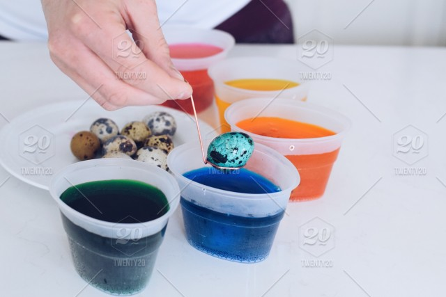 Coloring Easter eggs stock photo 3d6c4899-f76c-40ad-80d1 ...
