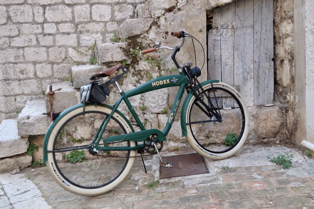 Retro bicycle, horex, vintage bike stock photo f79a3fa2-b29c