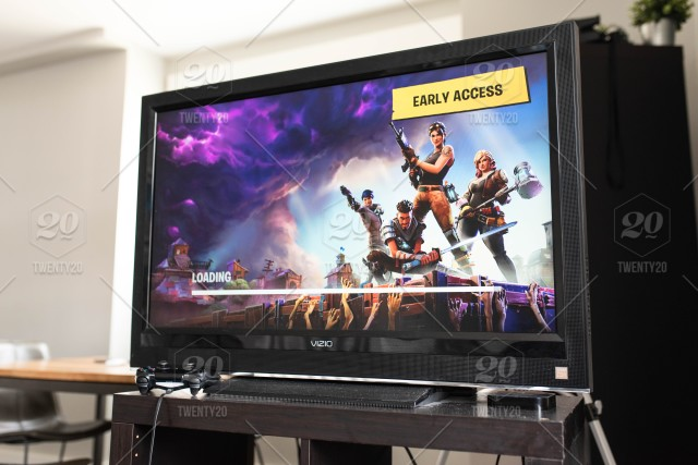 Fortnite Early Access screen for popular video game on console