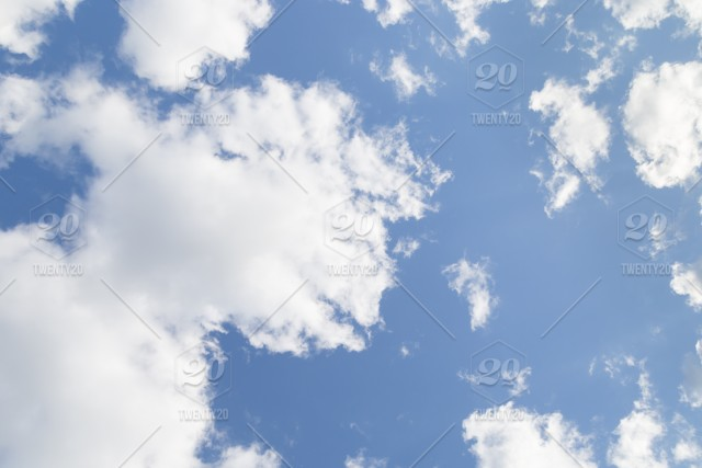 Blue Sky With White Clouds White Color Light Air Heaven Beauty
