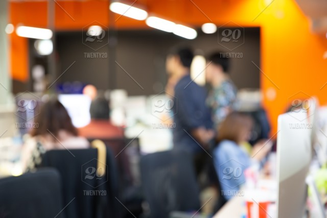 Blurred Office Background Group Of People Office Abstract