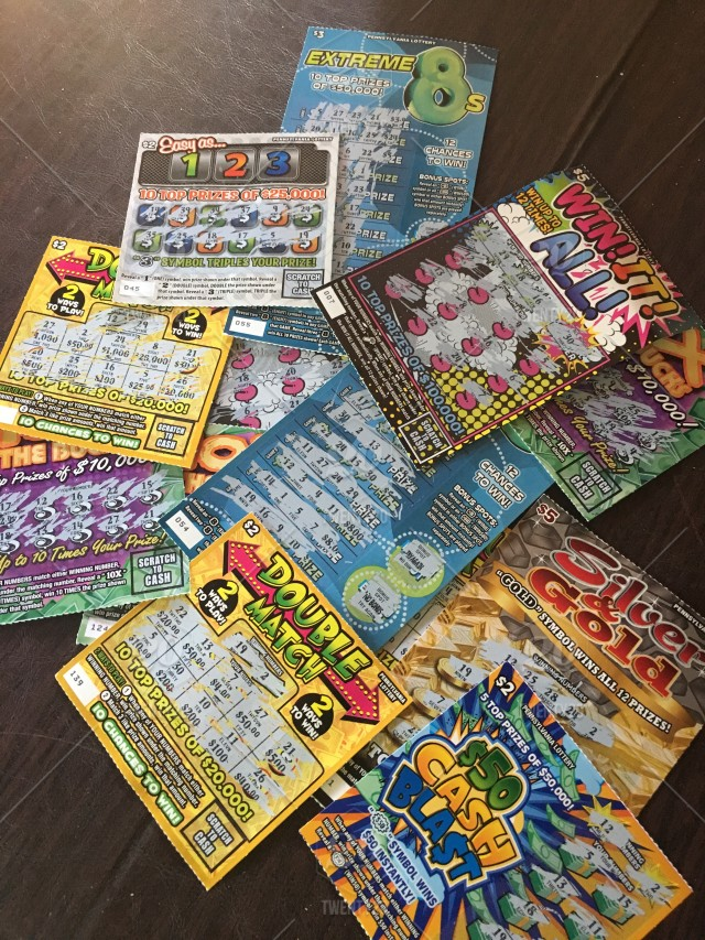 Scratch off Pa lottery tickets   no winner this time stock photo