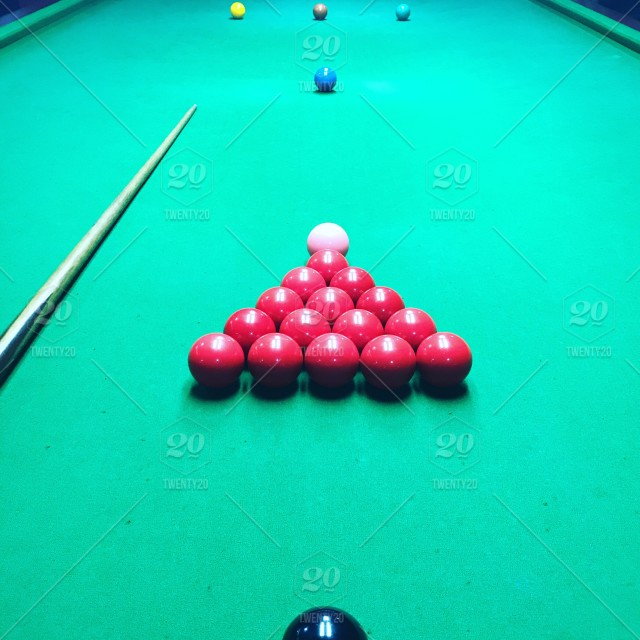 Have fun  Relax  Lets snooker and chill  stock photo