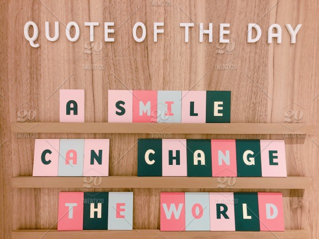 Quote Of The Day A Smile Can Change The World Words In The Wild Stunning Inspirational Message Of The Day
