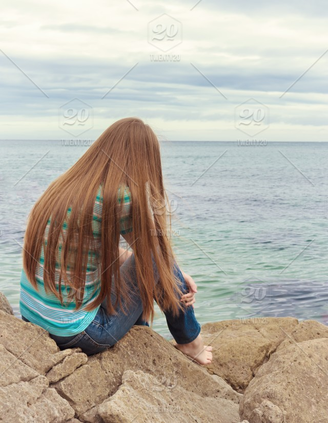 Sad girl sitting. Lonely woman is sad. girl, sad, alone, female, woman, young, people, person, sitting, lonely, beautiful, outdoor, teen, loneliness, ...