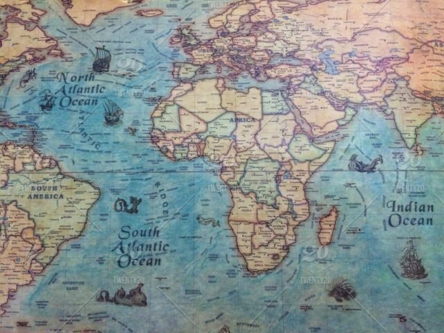 Authentic World Map.Backgrounds Texture Lifestyle Map Travel Destination Travelling