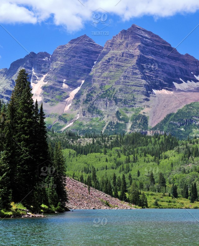 The Three Bells: Maroon Bells in the Colorado Rocky Mountains