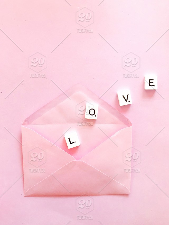 Sweet Love Love Letter Pink Love Pink Envelope Containing