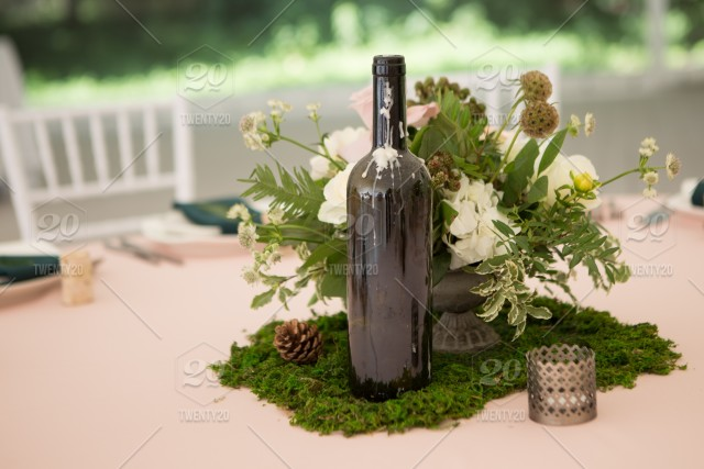 Wedding Table Decor Flowers Candle Holder Outdoor
